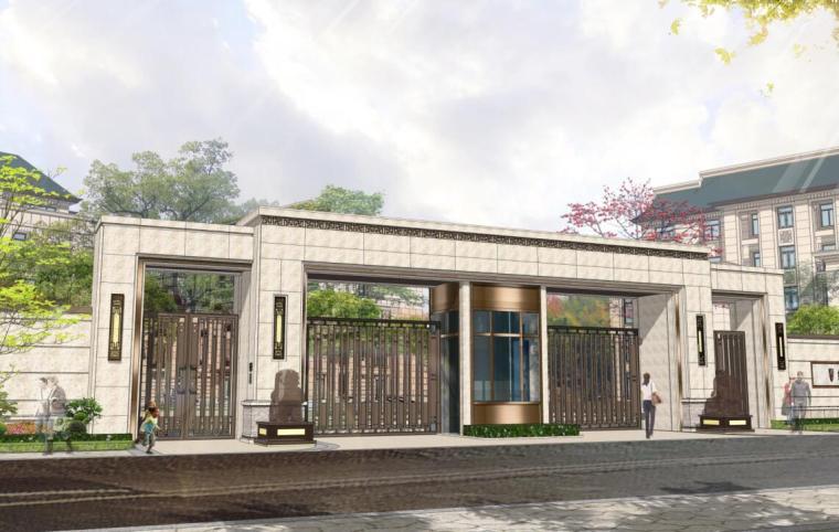 [云南]中西合璧风别墅+住宅景观概念方案