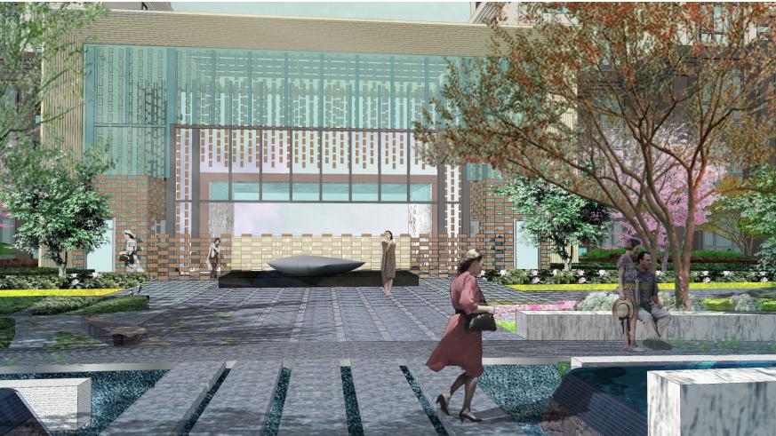 [武汉]青扬社区广场景观方案修改深化设计