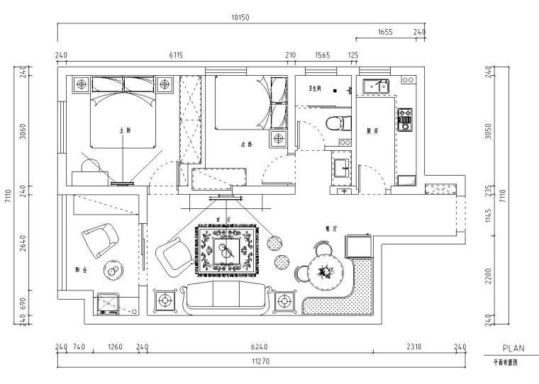 东南亚风格-六居室大平层住宅装修施工图