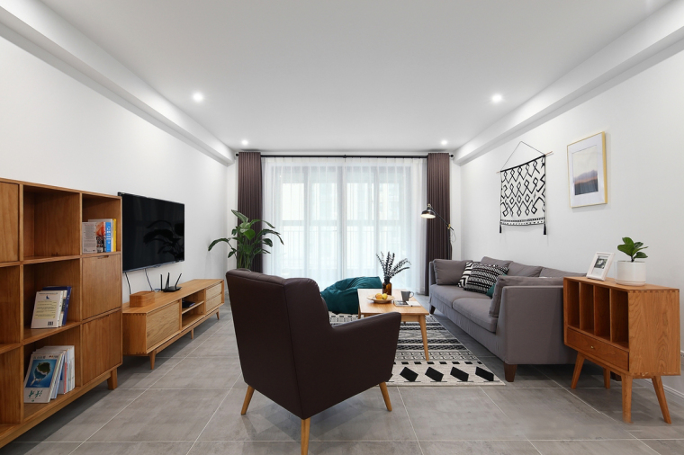 [常州]现代三室两厅室内施工图CAD+效果图