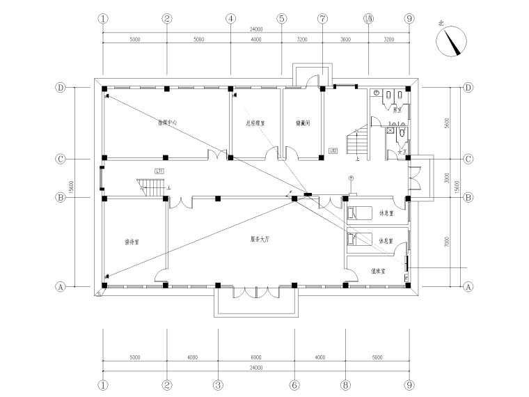 700㎡框架结构综合楼建设工程图纸+招标文件