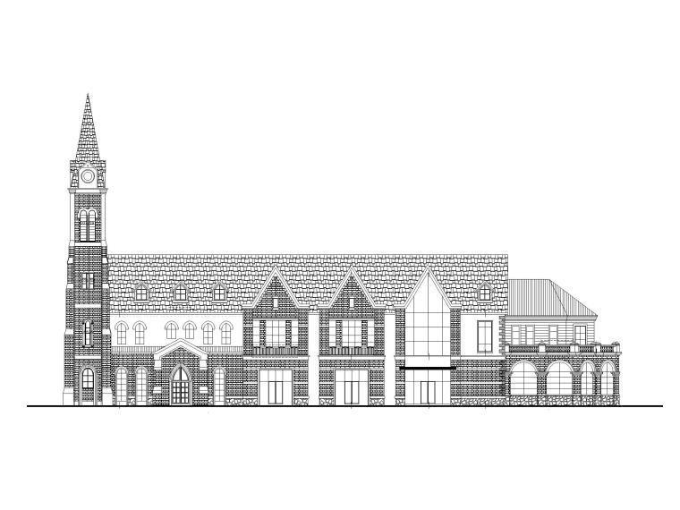 [湖北]欧式多层商业建筑施工图CAD