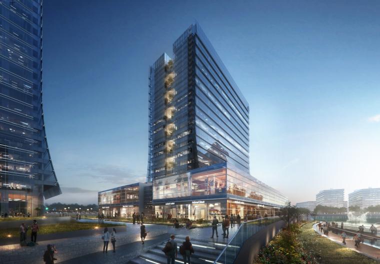 [河南]现代风综合体酒店+办公商业建筑方案