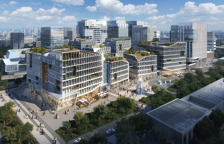 [上海]现代风生态综合体酒店+办公商业方案