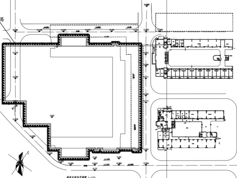 师范学院教学楼钻孔灌注桩基坑支护图纸2020