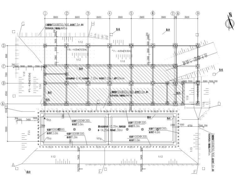 制药厂消防水池及水泵房基坑支护图纸2018