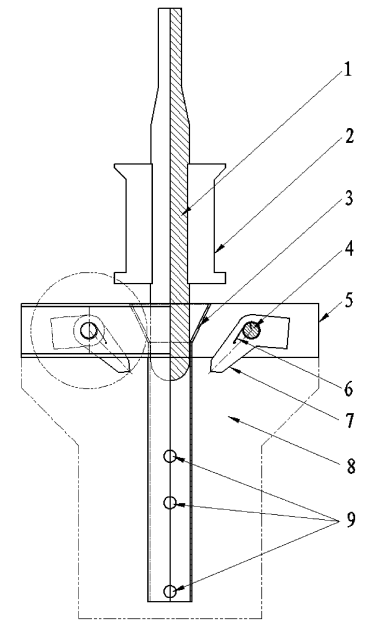 机械式自动锁放装置实用新型专利