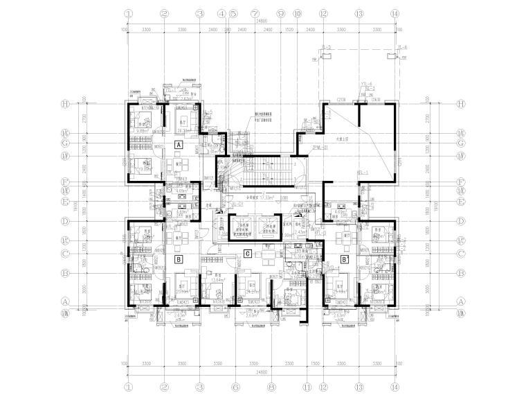 中铁|高层住宅组团11#楼给排水施工图2019